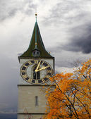 Clock tower of St. Peter's Church — Stock Photo