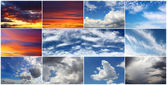 Sky collage — Stock Photo