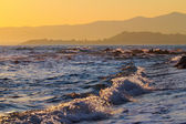 Marine view at sunset — Stock Photo