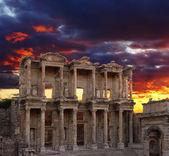 Celsus-bibliothek in ephesos — Stockfoto