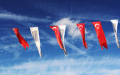 Flags in Kusadasi — Stock Photo