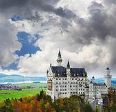 Sepia toned Neuschwanstein castle — Stock Photo