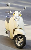 White classical scooter — Stock Photo