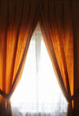 Orange curtain — Stockfoto