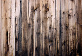Close up of wooden fence panels — Stock Photo