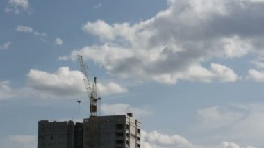 Tower cranes — Stock Video