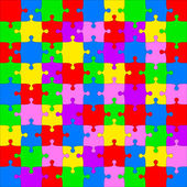 Background Vector Illustration jigsaw puzzle — Stockfoto