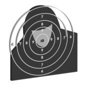 The target for shooting practice — Stockfoto