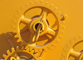 Large chain drive on a seed separator machine. — Stock Photo