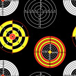 Targets for practical pistol shooting, seamless wallpaper, vecto — Stock Photo #15431061