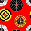 Targets for practical pistol shooting, seamless wallpaper, vecto — Stock Photo