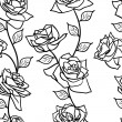 Beautiful seamless wallpaper with rose flowers — Stock Photo #15432353
