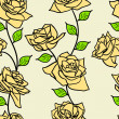 Beautiful seamless wallpaper with rose flowers — Stock Photo #15432407