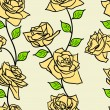 Stock Photo: Beautiful seamless wallpaper with rose flowers