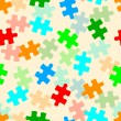 Stock Photo: Beautiful seamless wallpaper with jigsaw puzzle