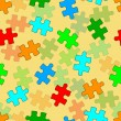 Beautiful seamless wallpaper with jigsaw puzzle — Stock Photo