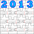 Calendar for 2013, jigsaw puzzle. Vector Illustration. — Stock Photo #15433499