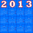 Calendar for 2013, jigsaw puzzle. Vector Illustration. — Stock Photo