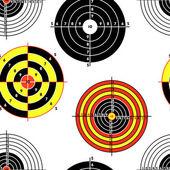 Targets for practical pistol shooting, seamless wallpaper, vecto — Stock Photo