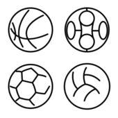 Impostare lo sport palle. illustrazione vettoriale — Foto Stock