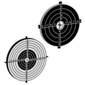 Set targets for practical pistol shooting — Stock Photo