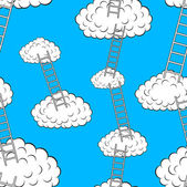 Clouds with stairs, seamless wallpaper — Stock Photo