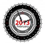 Creative idea of design of a Clock with circular calendar for 20 — Stock Photo #16810381