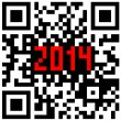 2014 New Year counter, QR code vector. — Foto Stock