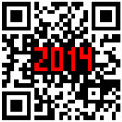 2014 New Year counter, QR code vector. — Foto de Stock