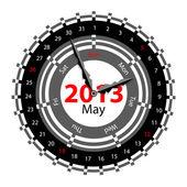 Creative idea of design of a Clock with circular calendar for 20 — Foto Stock