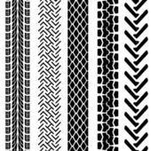 Conjunto de neumático detallado estampados, ilustración vectorial — Foto de Stock