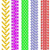 Набор подробных шины печатает, векторные иллюстрации — Стоковое фото