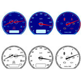Zestaw prędkościomierzy samochodów wyścigowych projekt. Ilustracja wektorowa — Zdjęcie stockowe