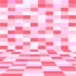 Abstract pink halftone background of rectangles. - Stock Photo