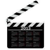 Calendar for 2013, movie clapper board. Vector Illustration. — Stock Photo