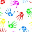 Royalty-Free Stock Photo: Hand print,  seamless  wallpaper, vector illustration.