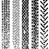 Set of detailed tire prints — Zdjęcie stockowe