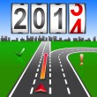 2014 New Year counter, vector. — Stock Photo
