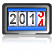 Stock Photo: 2014 New Year counter, vector.