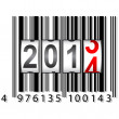 2014 New Year counter, barcode, vector. — Stock Photo