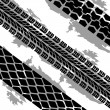Abstract background tire prints, vector illustration - Stock Photo
