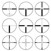 Cross hair and target set. Vector illustration. — Stock Photo