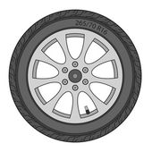 Car Wheel, vector illustration — Stock Photo