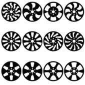 Car alloy wheels, vector illustration — Stock Photo
