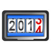Capodanno 2014 contatore, vettoriale. — Foto Stock