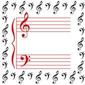 Müzikal bir çıta vektör çizim — Stok fotoğraf