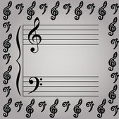 Vector Illustration of a musical stave — Stock Photo