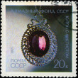 USSR - CIRCA 1971: A Stamp printed in USSR shows Pendant with am — Stock Photo #22601817