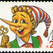 RUSSIA - CIRCA 1992: A stamp printed in Russia shows Pinocchio, — Stock Photo