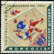 MONGOLIAN - CIRCA 1962: Various Soccer Scenes, Chile, 1962, circ - Stock Photo